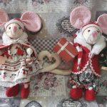 kreatív karácsonyi dekoráció - karácsonyi egérkék
