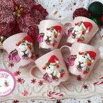 kreatív karácsonyi dekoráció - karácsonyi bögrék