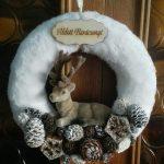 kreatív karácsonyi dekoráció ajtó dísz