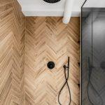 Monokróm Loft lakás fa dekoráció -fürdőszoba fa panel