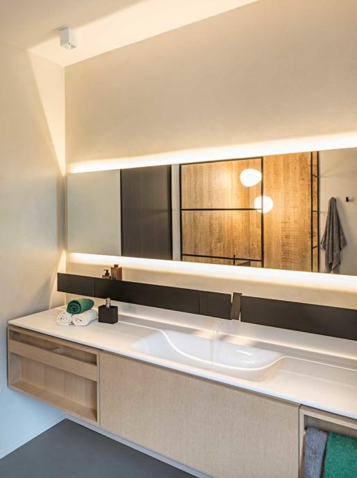 Natrual design lakás fürdőszoba