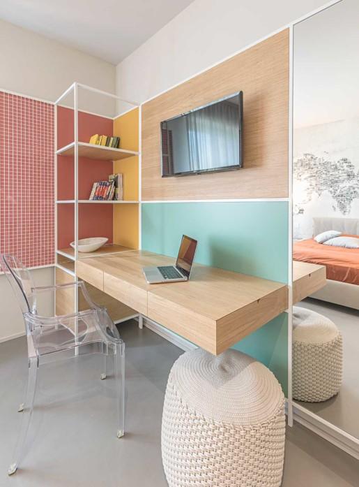 Natrual design lakás háló ésdolgozó