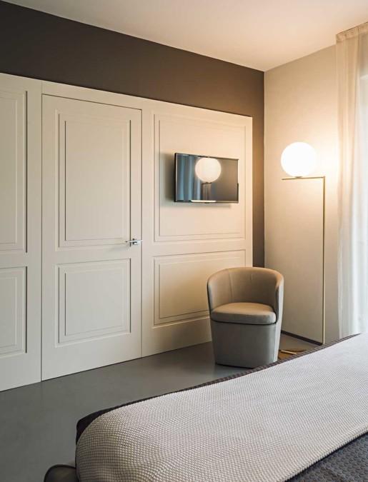 Natrual design lakás hálószoba
