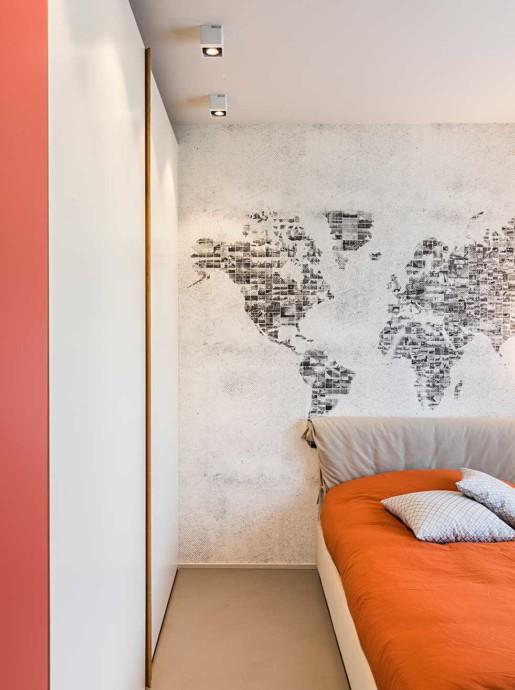 Natrual design lakás hálószoba és tapéta