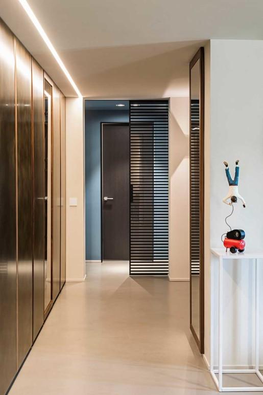Natrual design lakás közlekedő