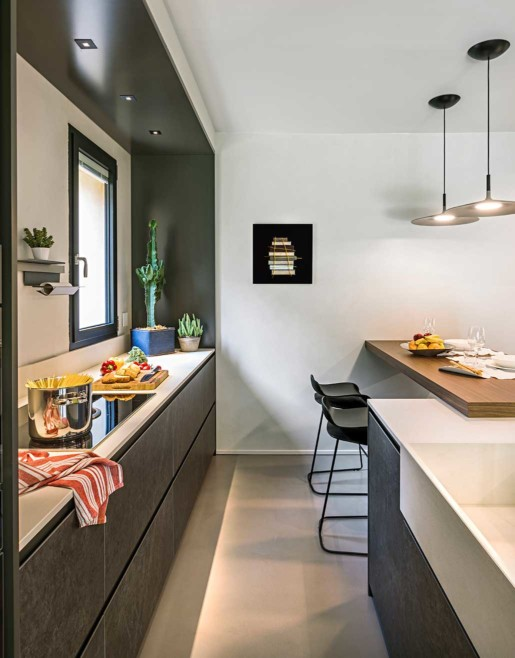 Natrual design lakás konyhapult